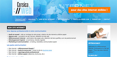 referencement internet en Corse
